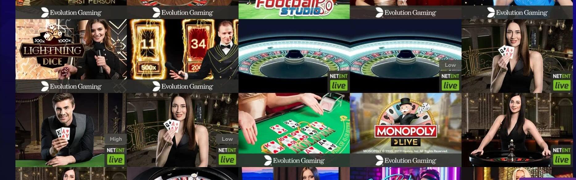 Race Casino bjuder på 85 bord i live casino-delen