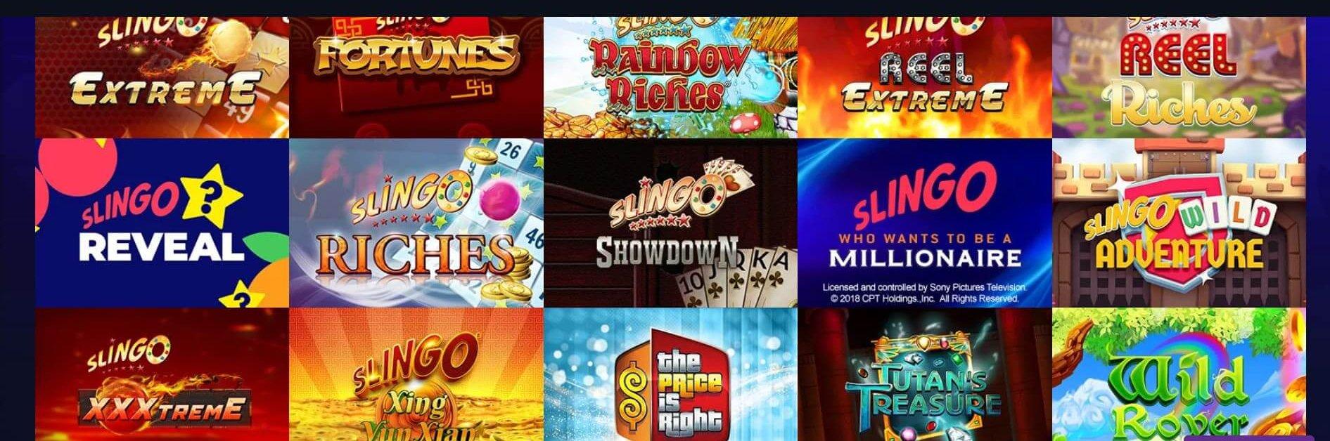 Singo är bara en av alla kategorier hos Race Casino