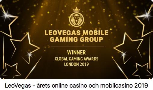 LeoVegas vinner pris för årets casino-2019