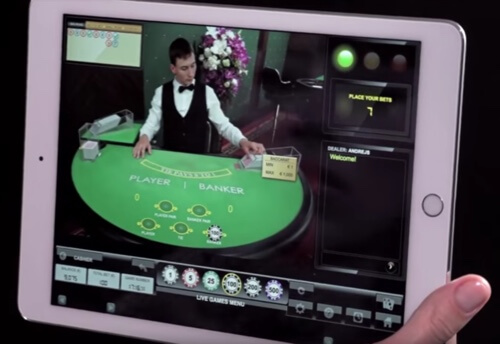 Live casino på en iPad