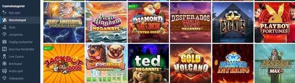 NordicBet Casino erbjuder slots för alla smaker