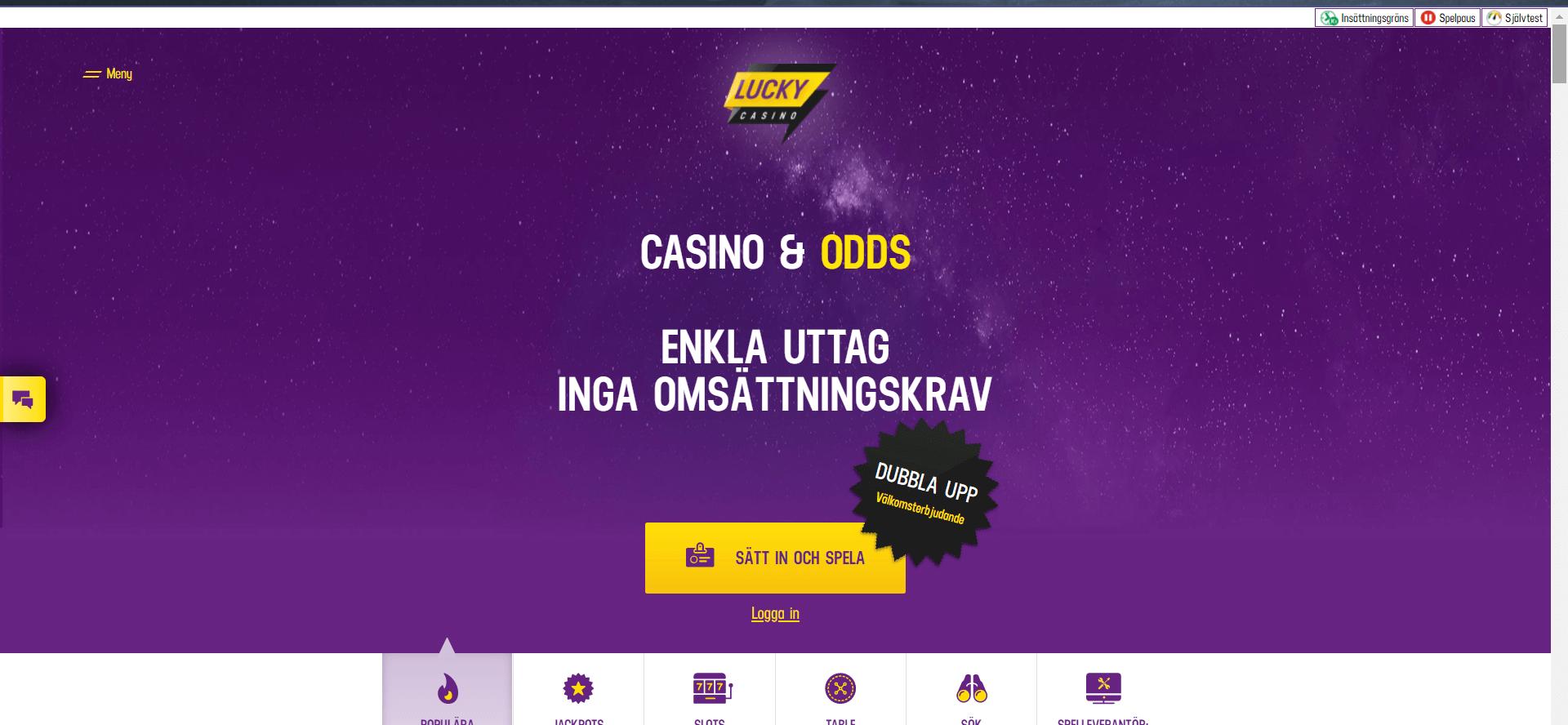 LuckyCasino - Ett slimmat online casino