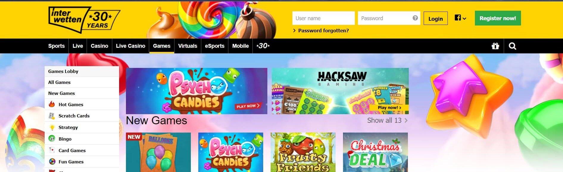 Interwetten ger dig många spelkategorier andra online casino saknar