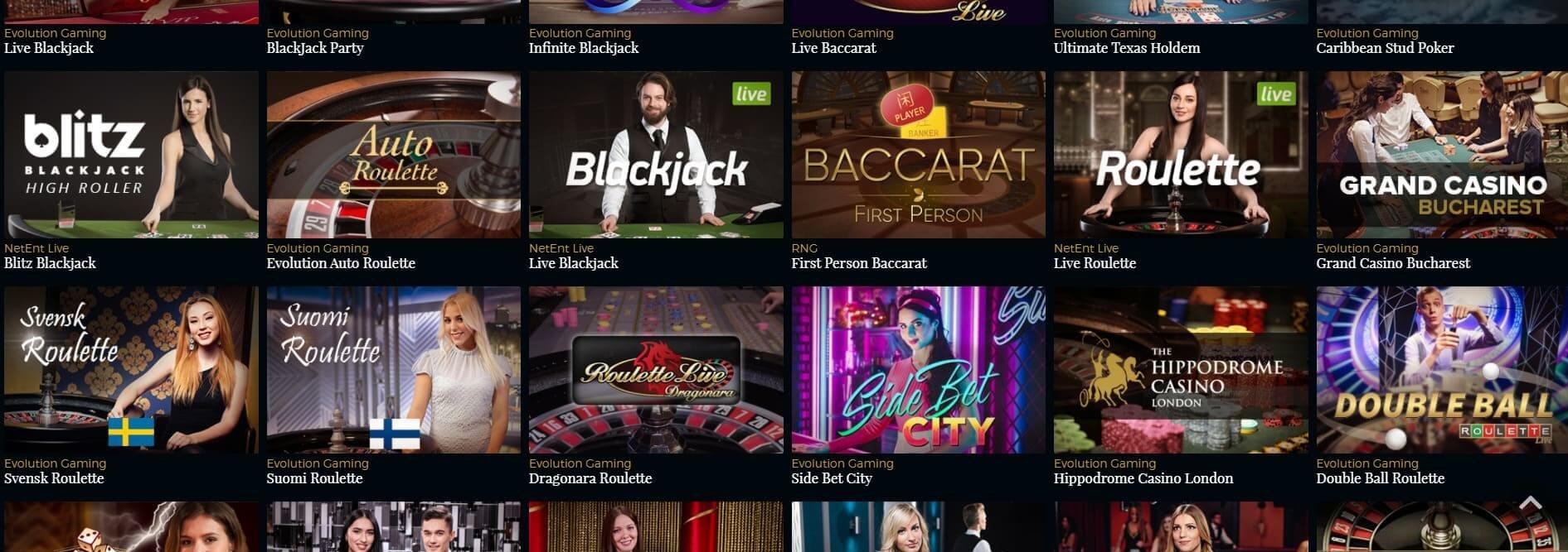 Premiere Live Casino lever upp till sitt namn med mängder av bord