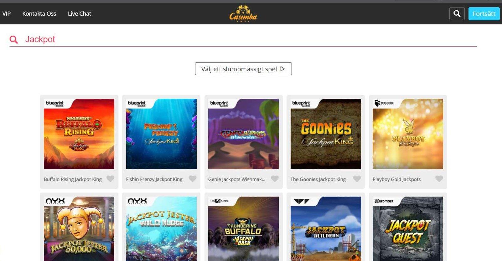 Jackpot Slots - utan egen kategori