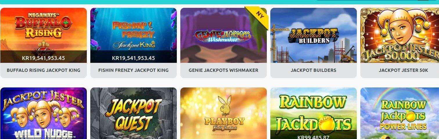 Några av de Jackpot Slots du kan spela på!