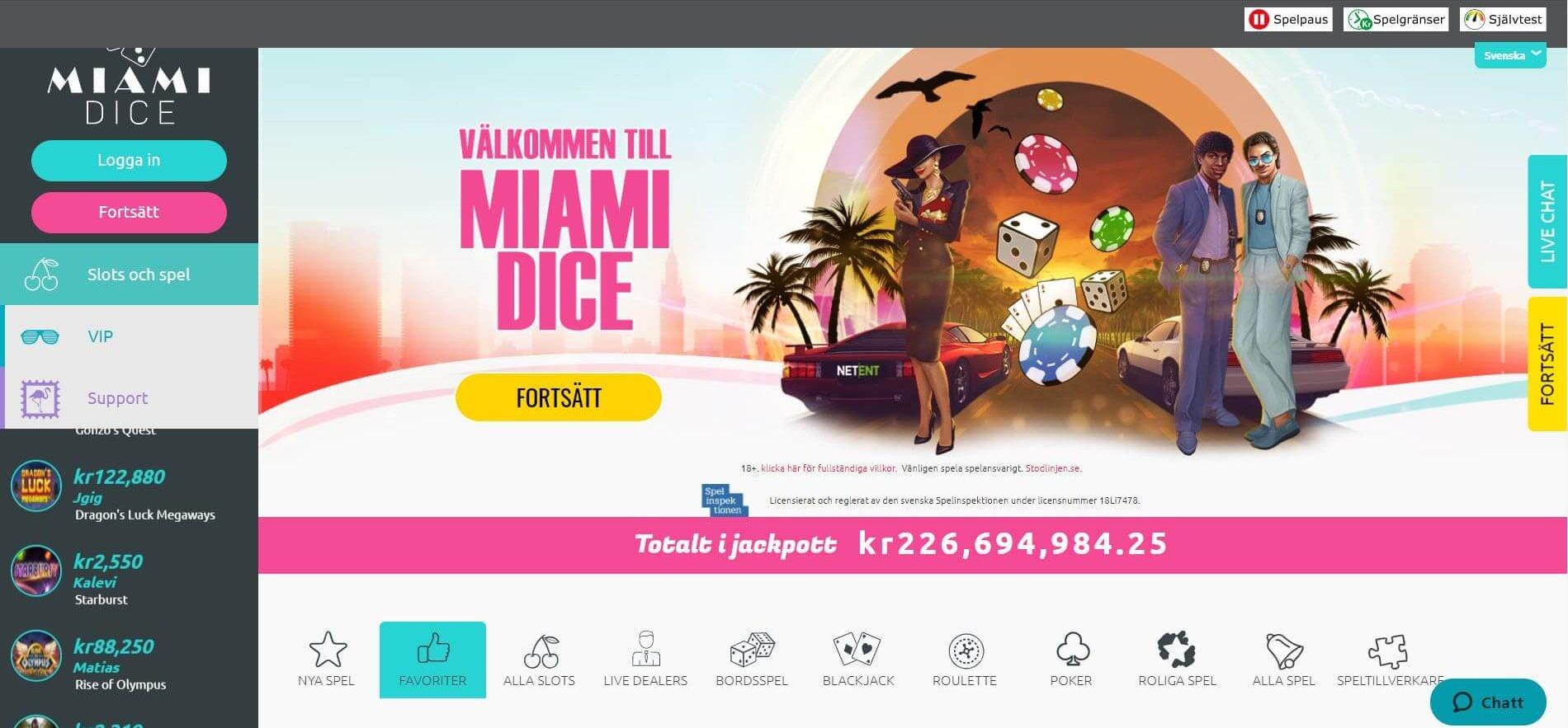 Miami Dice - Ett stilrent 80-tals inspirerat online casino