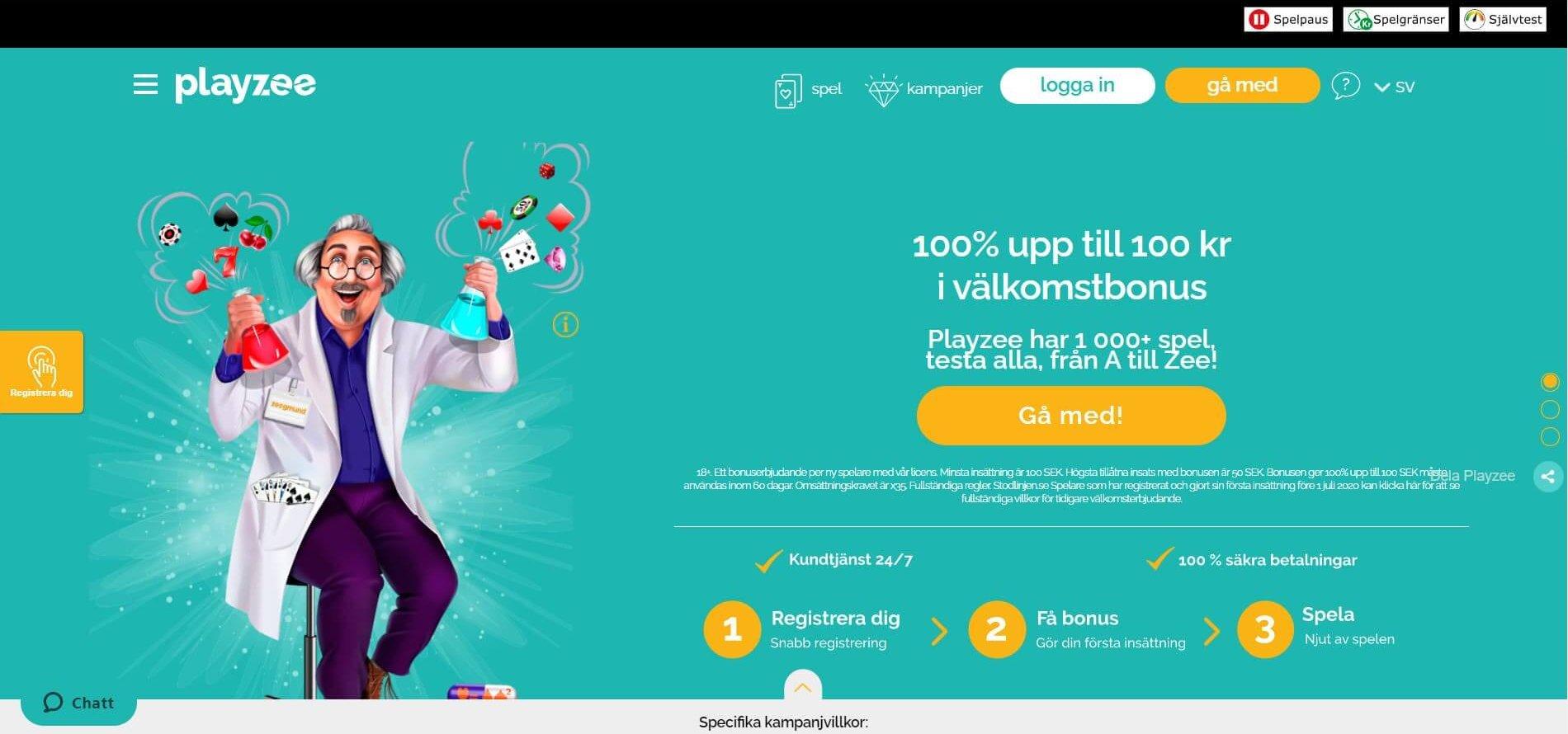 Playzee erbjuder ett unikt online casino!