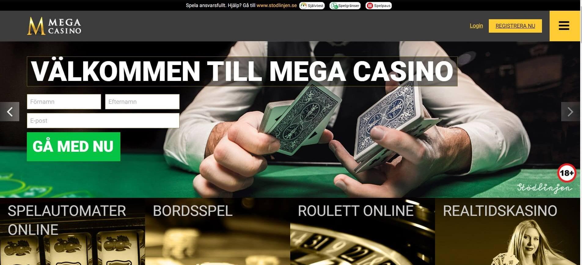 Mega Casino är ett eget online casino