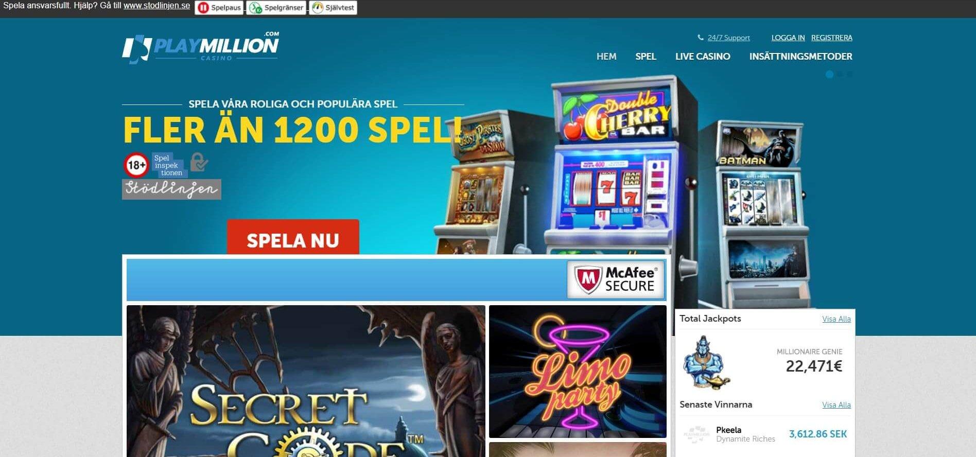 PlayMillion är ett informativt online casino