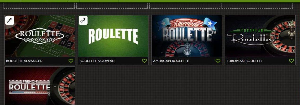 GDay Casino erbjuder både klassiska liksom moderna versioner Roulette