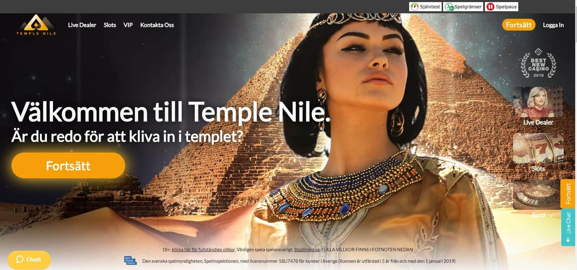 Temple Nile Casino ger dig ett lyxigt online casino