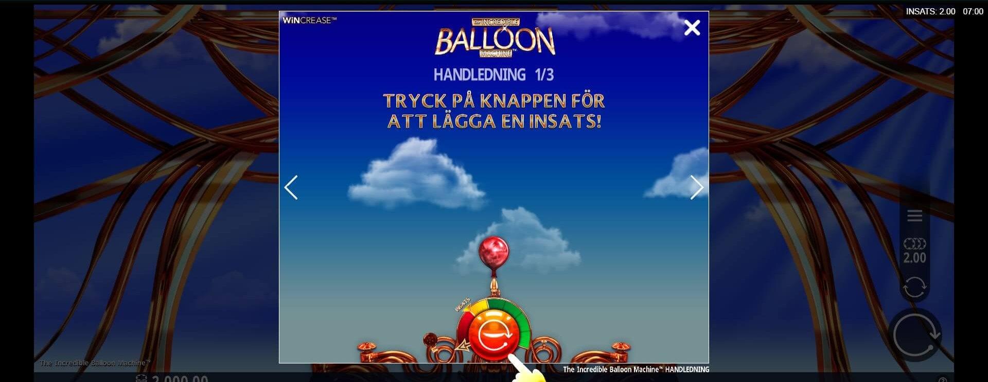 Testa The Incredeble Baloon Machine hos Playzee