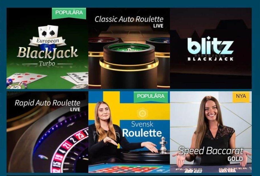 EUCasino har även live casino av hög kvalitet, till exempel Evolution - Svensk Roulette