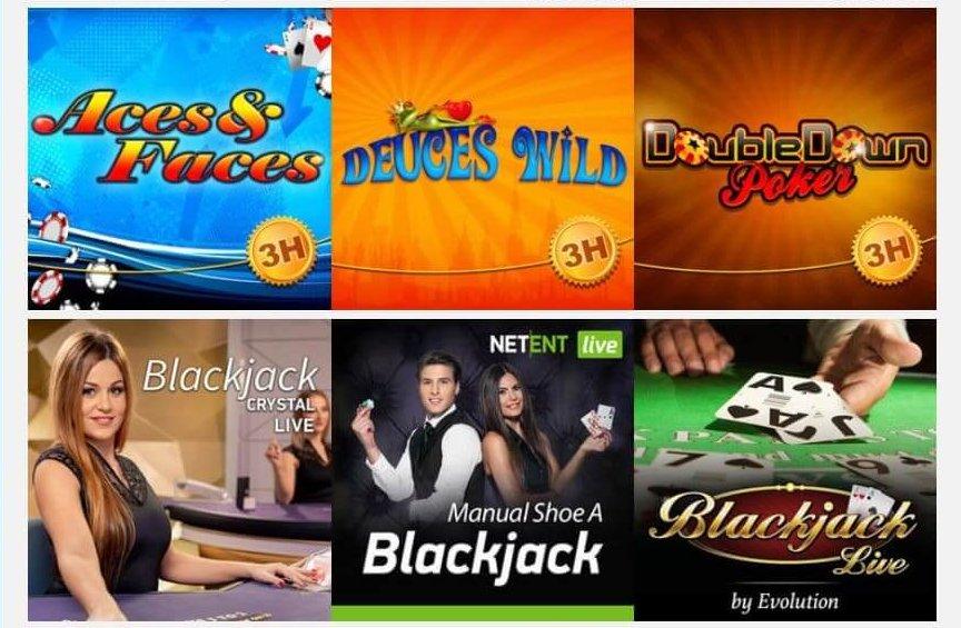 Bland kortspel hos EUCasino hittar du både live casino liksom videopoker