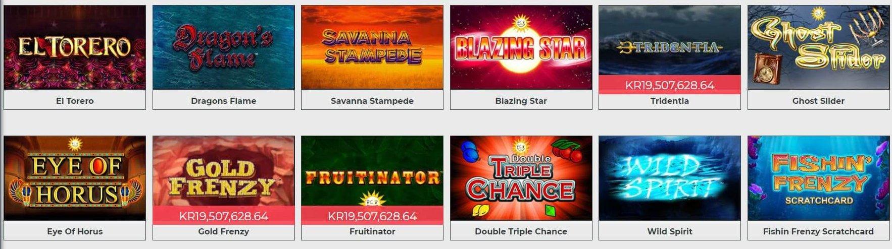 Merkur har flertalet slots hos Dream Jackpot Casino