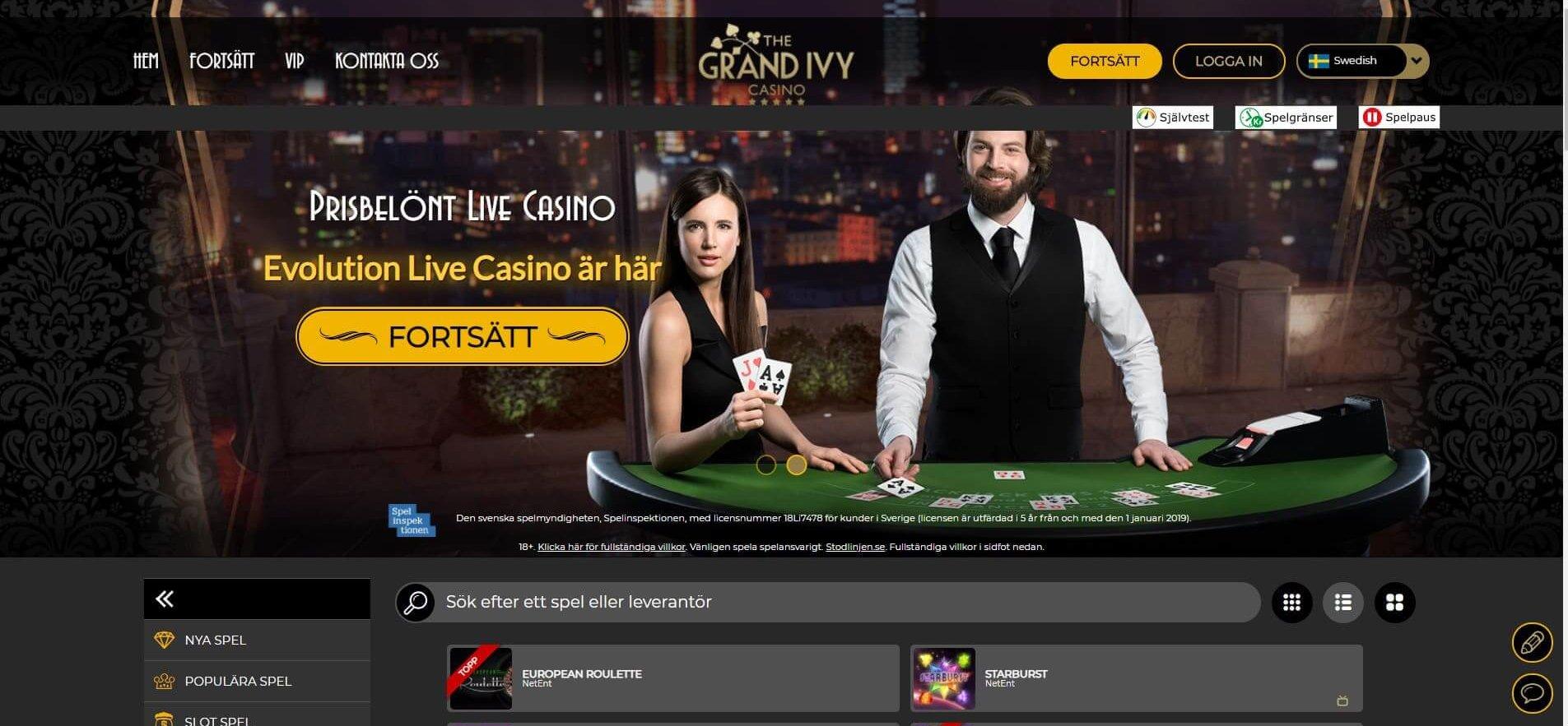 Grand Ivy bjuder in till ett klassiskt online casino