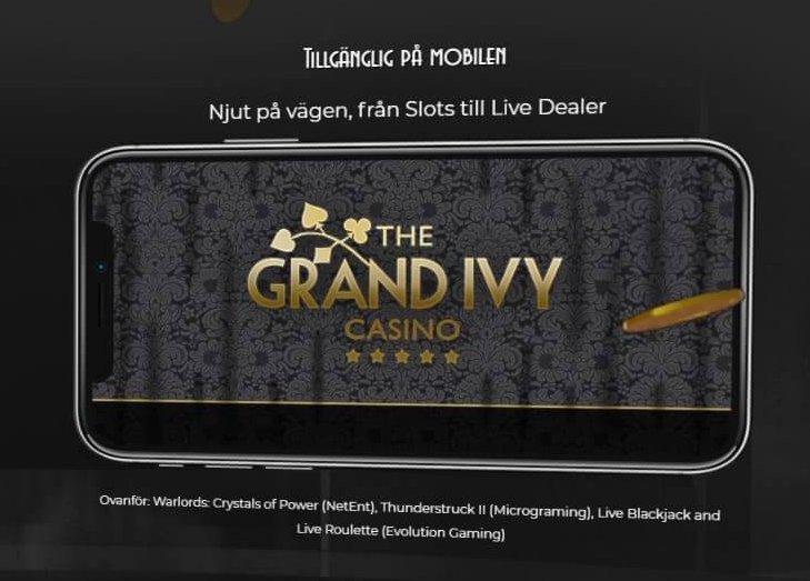 Spela hos Grand Ivy vart du än befinner dig!