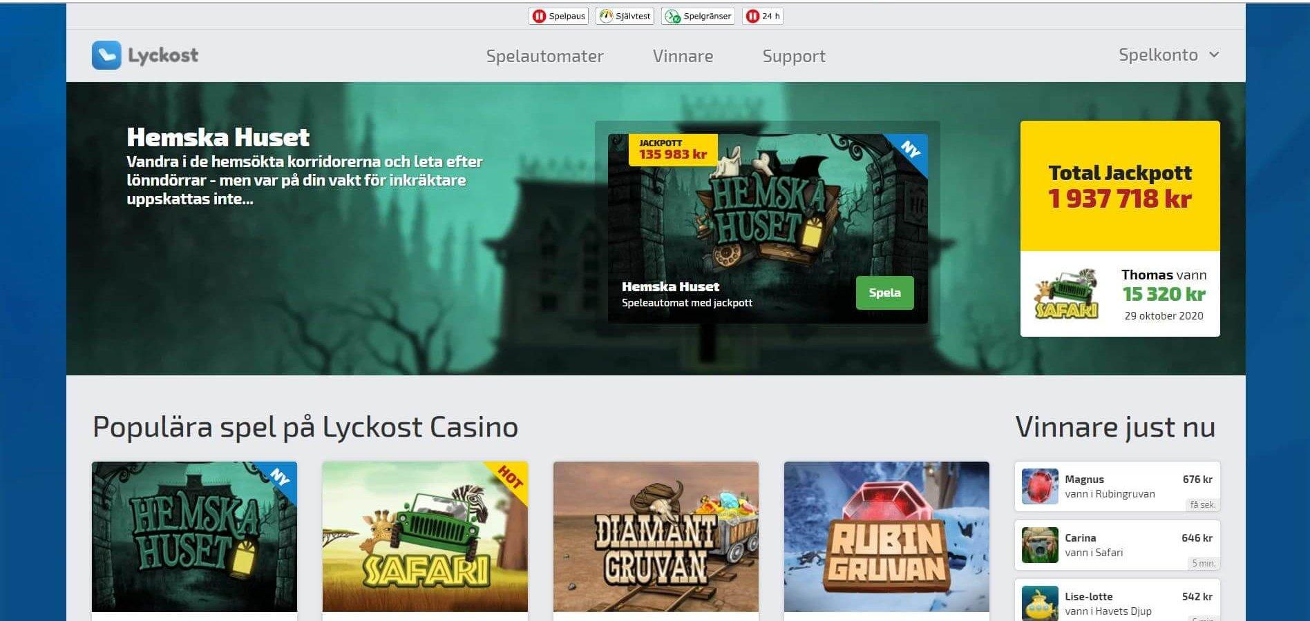 Avnjut Lyckost - ett enkelt men roligt online casino