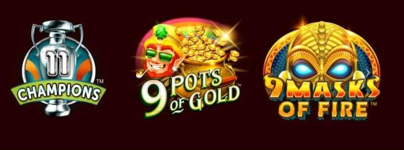 Några av de spel du kan uppleva från Gameburger hos Casino Action