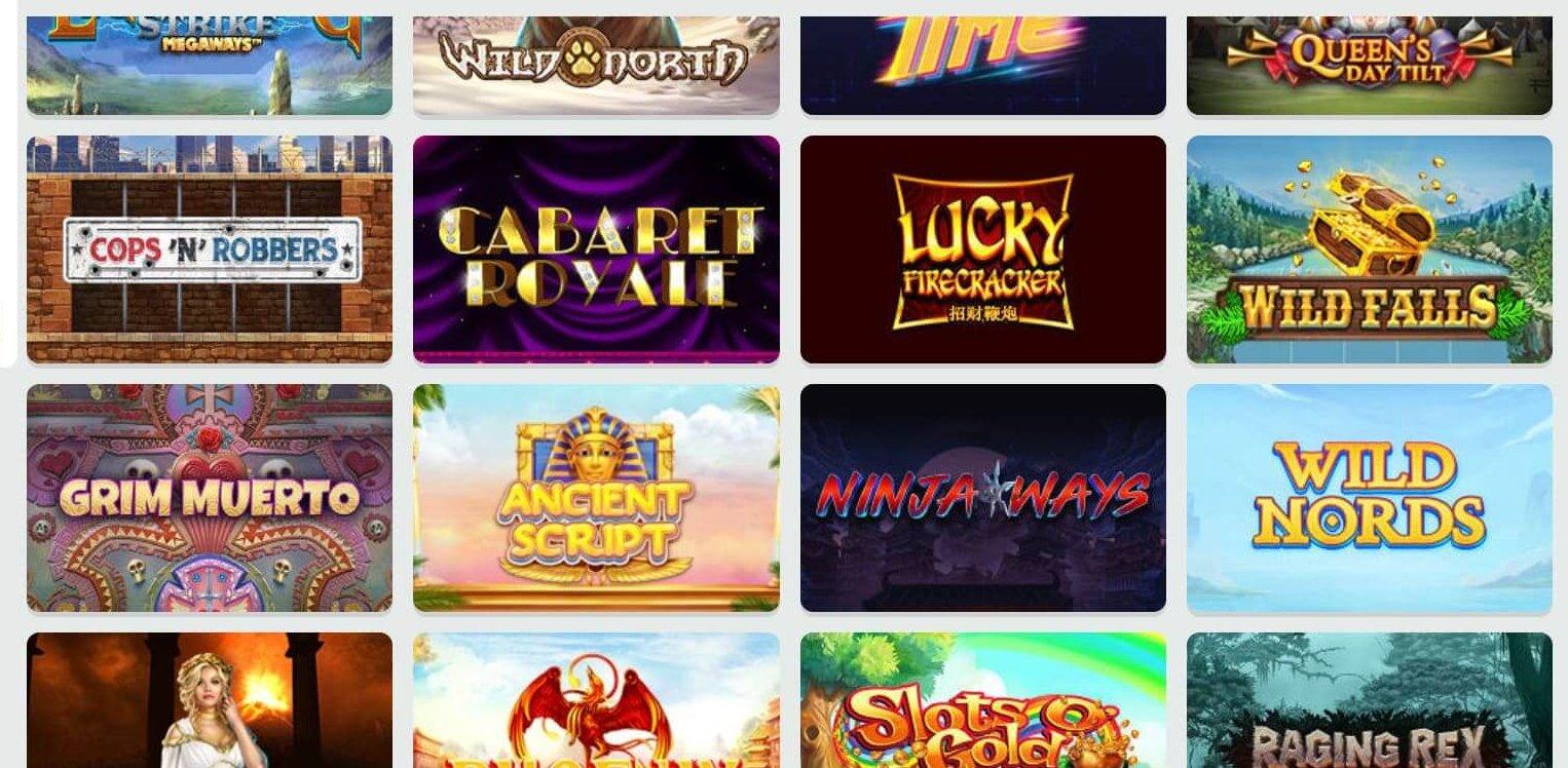Ninja Ways av Red Tiger, Grim Muerto av Playn GO och många fler slots hos Fruity Casa