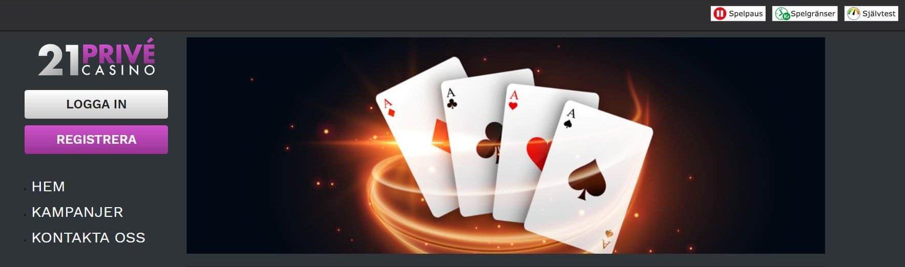 Välkommen till stilfulla, sköna 21Privé Casino