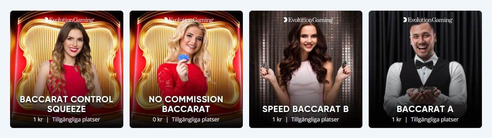 Speedy Spel avdelning med Live Casino har många versioner av de bästa casinospelen