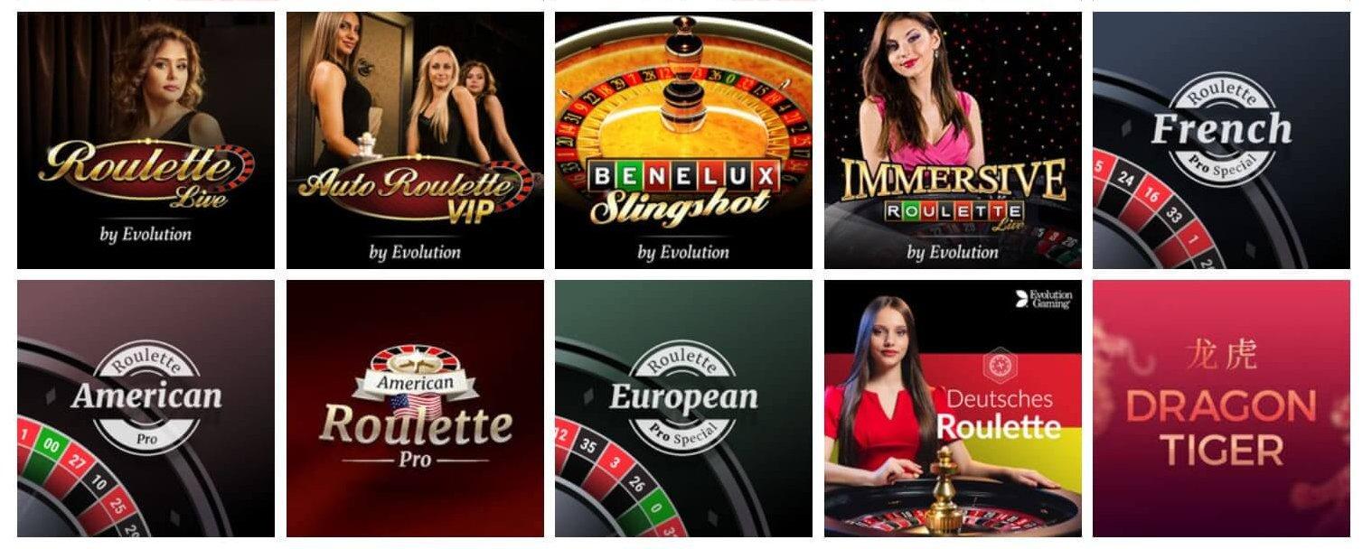 Mer unika titlar, likt Slingshot Roulette, kan du hitta hos Giant Casino