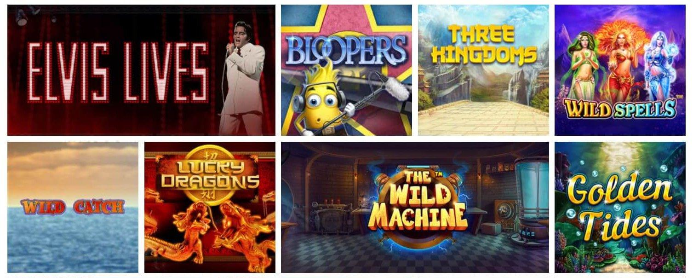 Ett urval av alla spel du även har i mobilversionen av Giant Casino