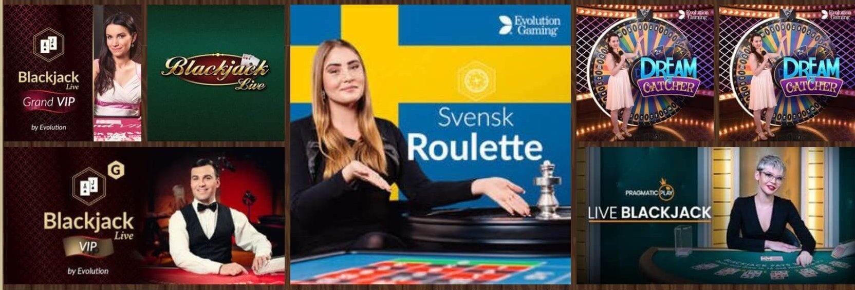 Cozino har ett välfyllt live casino där till och med svensk Roulette finns!