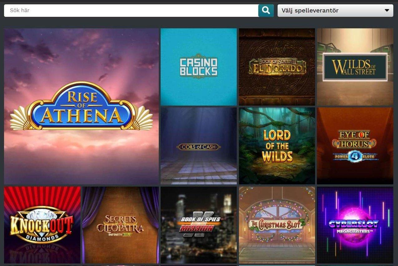 21Privé Casino har ett genomtänkt upplägg på spelsidan